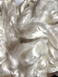 画像1: ブレンド素材「薔薇のファイバー 光沢ホワイト」 (1)