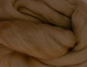画像1: メリノ染色羊毛メランジ「はぜちゃいろ」 (1)