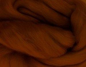 画像1: NZ染色羊毛「タンブラウン」 (1)