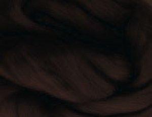 画像1: メリノ染色羊毛メランジ「くろちゃ」 (1)