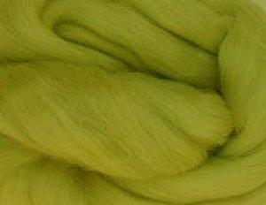 画像1: NZ染色羊毛「モスグリーン」 (1)