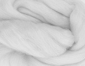 画像1: メリノ染色羊毛メランジ「しろがね」  (1)