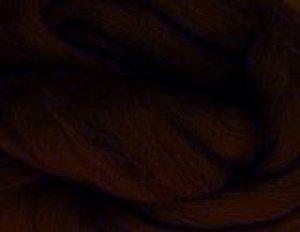 画像1: NZ染色羊毛「ダークブラウン」 (1)