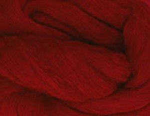 画像1: NZ染色羊毛「ガーネットレッド」 (1)