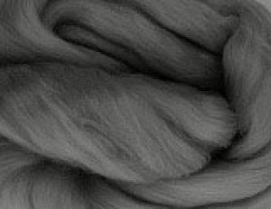 画像1: NZ染色羊毛「ストレートグレイ」 (1)
