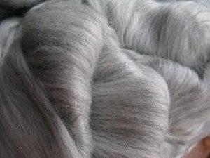 画像1: ナチュラルカラー羊毛「グレイメリノ」 (1)