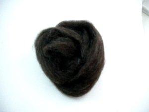 画像1: ナチュラルカラー羊毛「NZダーク」  (1)