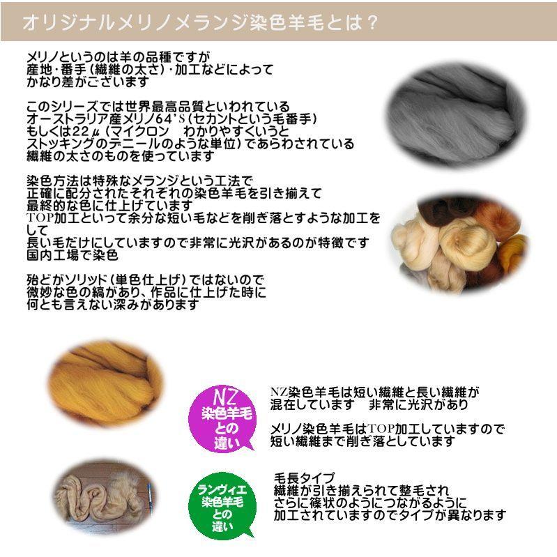 オリジナルメリノ染色羊毛「メランジシリーズ」