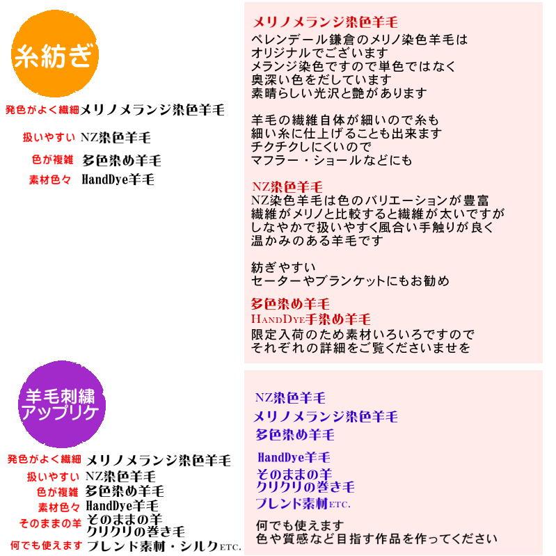 染色羊毛の選び方4